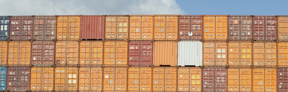 Shipping containers at the Port of Southampton